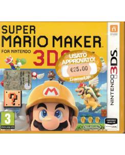 Videogioco Nintendo 3DS Super Mario 3D Maker 3DS 2DS PAL ITA libretto 3+