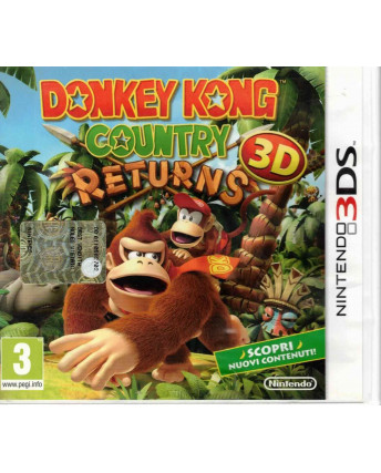 Videogioco Nintendo 3DS Donkey Kong Country Returns 3D ITA 3+ libretto