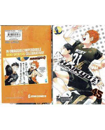 Haikyu L'Asso del Volley n.45 con Shikishi di Furudate ed. Star Comics NUOVO