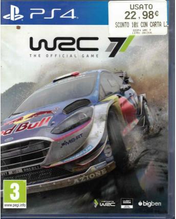 Videocgioco Playstation 4 WRC 7 3+ BigBen libretto ITA