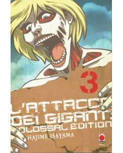 L'Attacco dei Giganti  3 Colossal edition di H. Isayama ed. Panini NUOVO