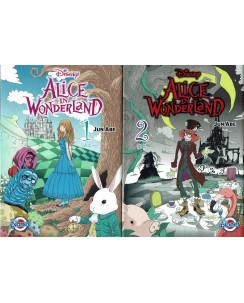 Alice in Wonderland 1/2 COMPLETA di Jun Abe Tim Burton ed. Panini NUOVO