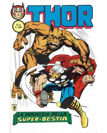 Thor n.  6 la minaccia della super bestia II serie ed. Corno