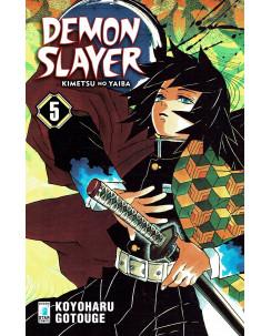 Demon Slayer  5 Kimetsu no Yaiba di K.Gotouge ed.Star Comics NUOVO