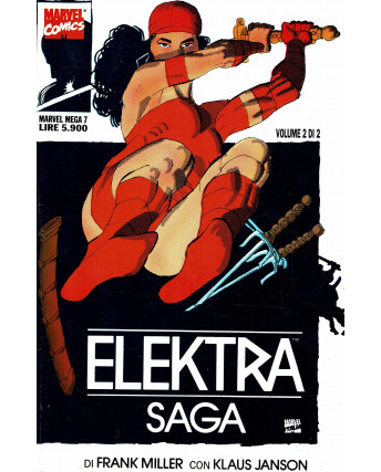 Marvel Mega n.  7 Elektra Saga di Frank Miller ed. Marvel Italia