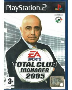 Videogioco Playstation 2 TOTAL CLUB MANAGER 2005 Ea Sports ITA libretto 3+