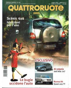 Quattroruote N. 536 giugno 2000 Alfa 147 Audi A4 Scenic 4x4 ed. Domus