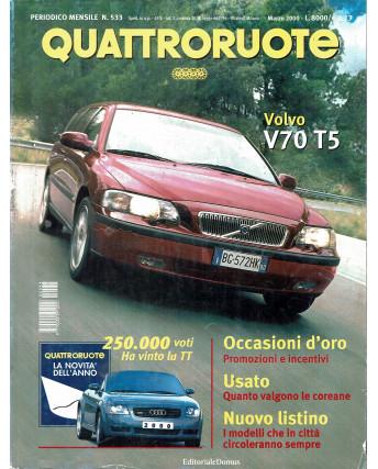 Quattroruote N. 533 marzo 2000 Porsche 911 turbo Smart Cabrio ed. Domus