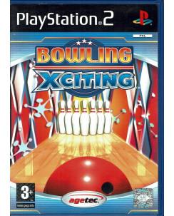 Videogioco Playstation 2 Bowling Xciting PS2 ITA USATO libretto 3+