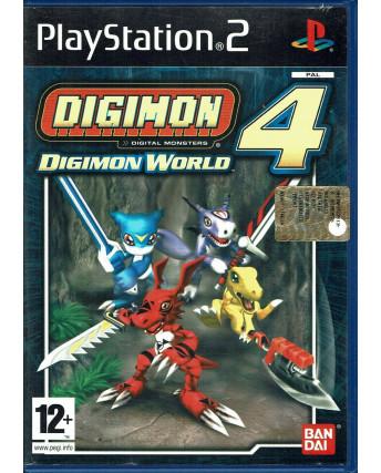Videogioco Playstation 2 DIGIMON WORLD 4 PS2  Bandai 12+ libretto ITA