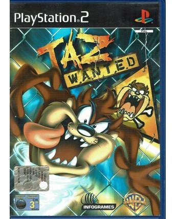 Videogioco Playstation 2 TAZ WANTED PS2 Ita USATO libretto 3+