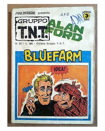 Alan Ford Gruppo TNT n. 34 * Magnus & Max Bunker * Ed. Corno