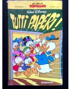Classici Disney Prima Serie n. 67 TUTTI PAPERI! - 1976 * con bollino punti!