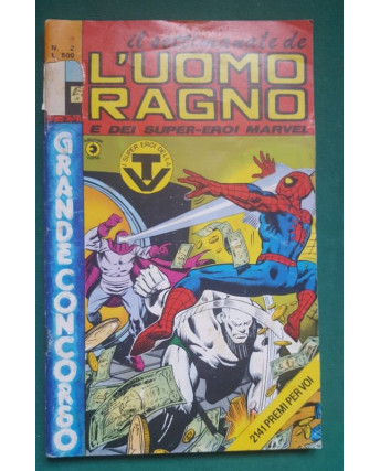 Il settimanale de l'Uomo Ragno e dei Super-Eroi Marvel n.  2 ed Corno NO BOLLINO