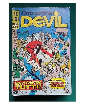 L'Incredibile Devil n. 16 solo conbtro tutti! ed. Corno