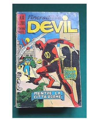 L'Incredibile Devil n. 10 mentre la città dorme ed. Corno