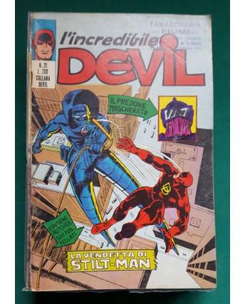 L'Incredibile Devil n. 21 la vendetta di Stilt Man ed. Corno