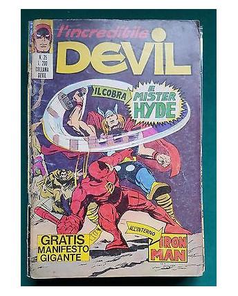 L'Incredibile Devil n. 25 il Cobra e Mister Hyde ed. Corno