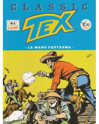 """Classic TEX  2 a colori """"la mano fantasma"""" ed.Bonelli"""