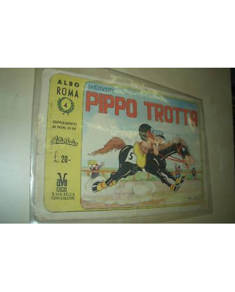 Albo Roma n.4 suppl.Vittorioso,Jacovitti:Pippo Trotta