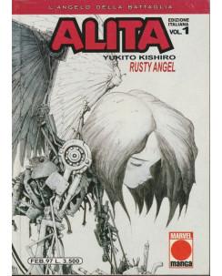 Alita L'Angelo Della Battaglia n.  1 di Y. Kishito * Prima Edizione Panini