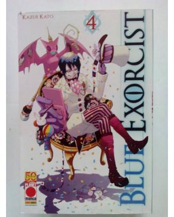 Blue Exorcist n. 4 di Kazue Kato * 1a RISTAMPA ed. Planet Manga