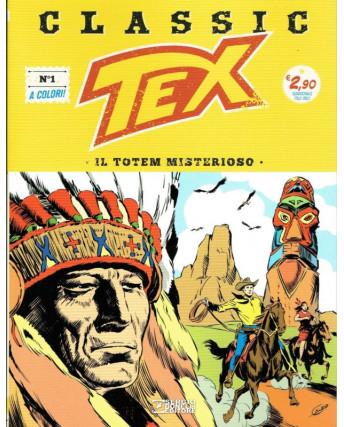 """Classic TEX  1 a colori """"il Totem misterioso"""" ed.Bonelli"""