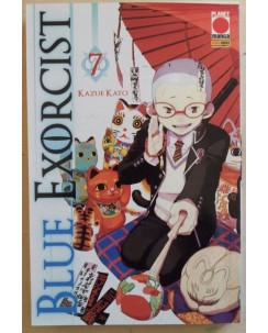 Blue Exorcist n. 7 di Kazue Kato - Prima Edizione Planet Manga