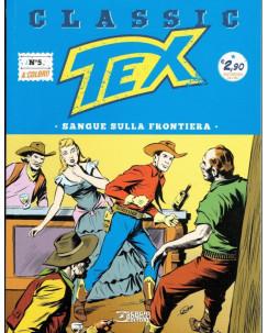 """Classic TEX  5 a colori """"sangue sulla frontiera"""" ed.Bonelli"""