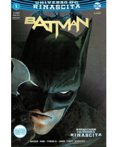 Batman  1 Universo DC RINASCITa ed.Lion NUOVO con Poster