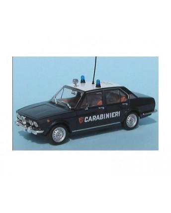 Alfa Romeo Alfetta 1972 blu Carabinieri Die Cast 1:43 scatola De Agostini