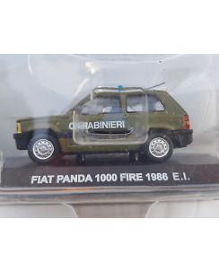 FIAT PANDA 1000 FIRE verde esercit Carabinieri Die Cast 1:43 scatola De Agostini