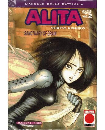 Alita L'Angelo Della Battaglia n.  2 di Y. Kishito Prima Edizione Planet Manga