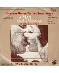 45 GIRI 0035 Francis Lai:Un Homme et une femme UA 3104 Italy 1966