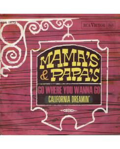 45 GIRI 0042 Mama's e Papa's:Caliornia Dreamin' RCA Victor 45N 1472 Italy