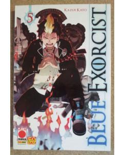 Blue Exorcist n. 5 di Kazue Kato - Prima Edizione Planet Manga