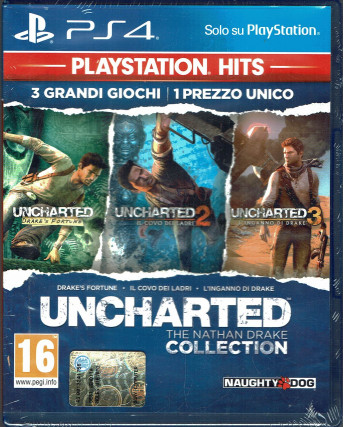 VIDEOGIOCO PER PlayStation 4: UNCHARTED the Nathan Drake Collection NUOVO ITA