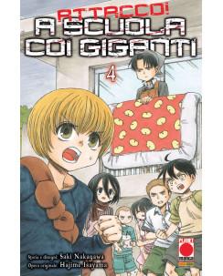 Attacco a scuola coi Giganti n.  4 di Hajime Isayama - Prima Edizione Panini