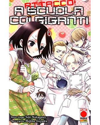 Attacco a scuola coi Giganti n.  6 di Hajime Isayama - Prima Edizione Panini