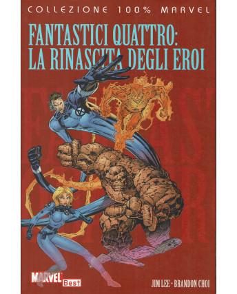 100% Marvel Fantastici Quattro la rinascita eroi di Jim Lee ed.Panini NUOVO SU08