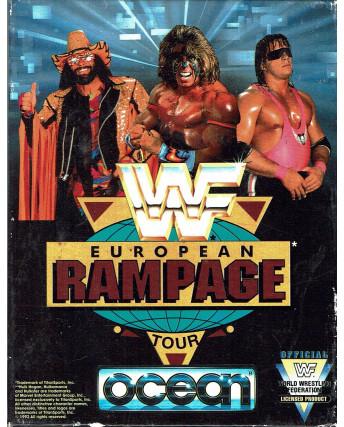 European Rampage WF tour Ocean cassetta Commodore 64 box
