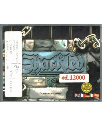 Shackled videogioco cassetta Commodore 64/128 box