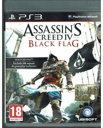 ASSASSIN'S CREED IV 4 BLACK FLAG Ps3 Versione Italiana 1ª Edizione COMPLETO