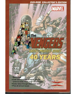40 Years Of Avengers Earth's Mightiest Heroes DVD ROM Collectors Edition Nuovo