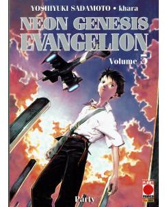 Neon Genesis Evangelion n. 5 di Sadamoto, Khara ristampa Nuova ed. Planet Manga
