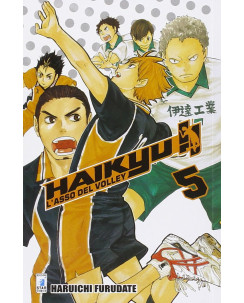 Haikyu L'Asso del Volley n. 5 di Haruichi Furudate ed. Star Comics NUOVO