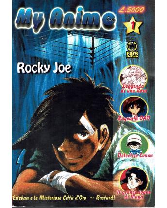 My anime  1 fanzine manga Rocky Joe, Lady Oscar, Maya Conan