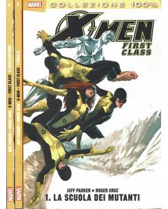 100% Marvel X Men First Class 1/5 serie COMPLETA Parker Cruz ed.Panini SU15
