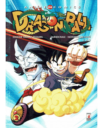Dragon Ball  2 Anime Comics 24 di Akira Toriyama ed. Star Comics