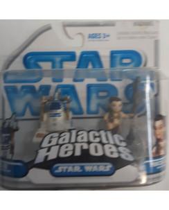 Star Wars Galactic Heroes : R2 D2 + Princess Leia  mini figure 6 cm Gd12